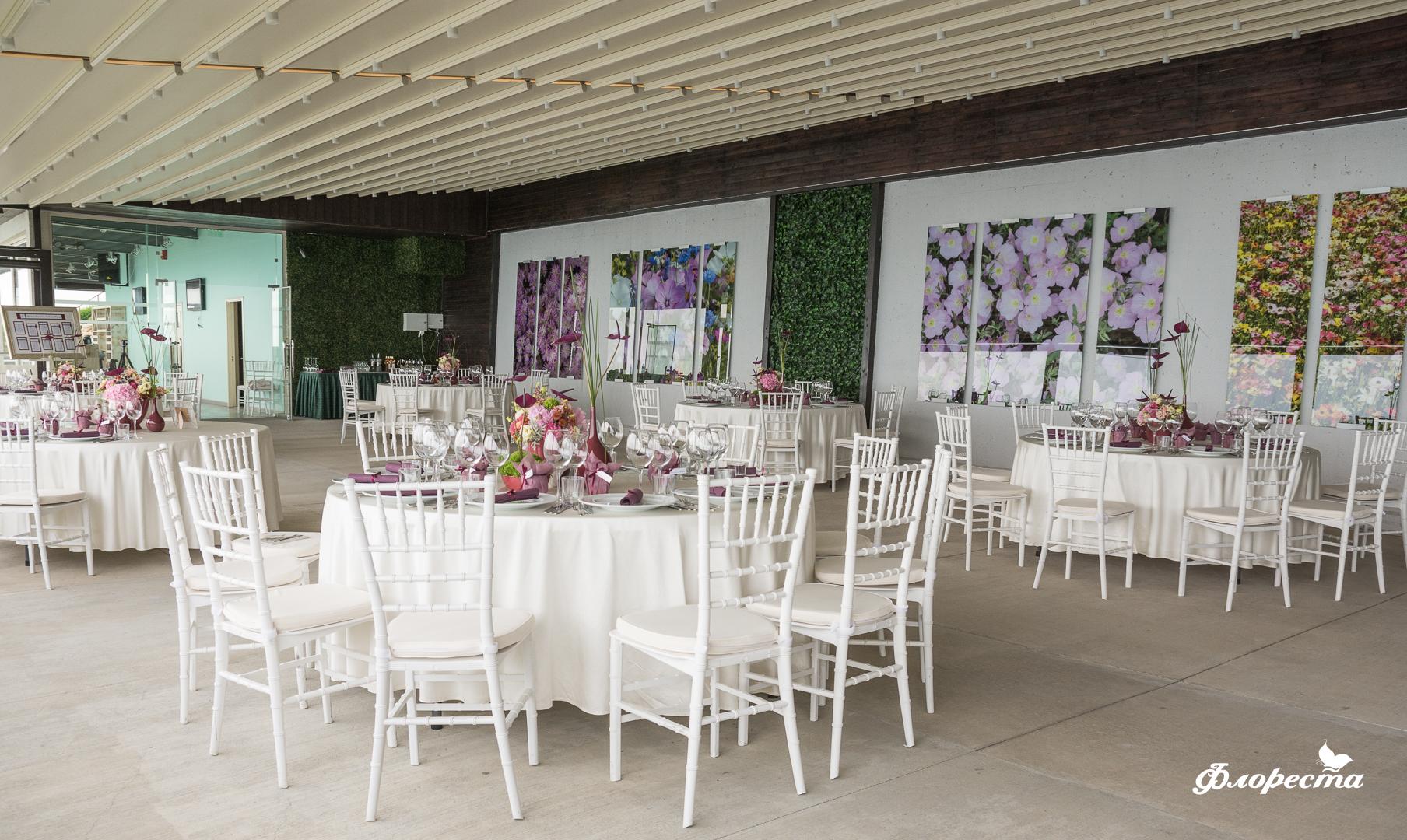 Декорация на ресторант за сватбено тържество